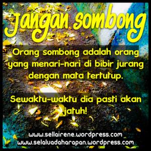 JANGAN SOMBONG